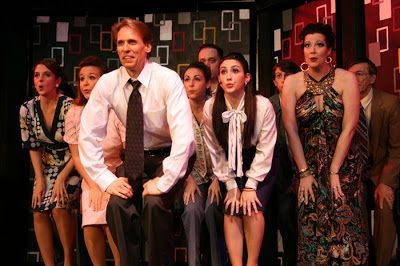 Bruce Linser (front) and the cast of FAU's Company perform Side by Side by Side.