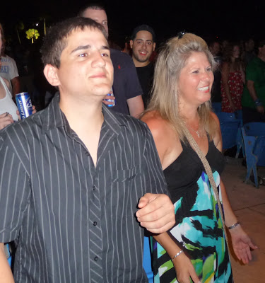 Rocco Nigro and his mother Bernardine, bonding over DMB. (Photo by Thom Smith)