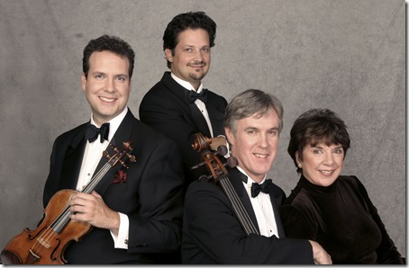 The Bergonzi Quartet, from left: Scott Flavin, Glenn Basham, Ross Harbaugh and Pamela McConnell.