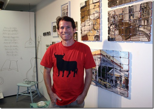 David Z in his studio at the Art Center South Florida (Photo by Katie Deits)