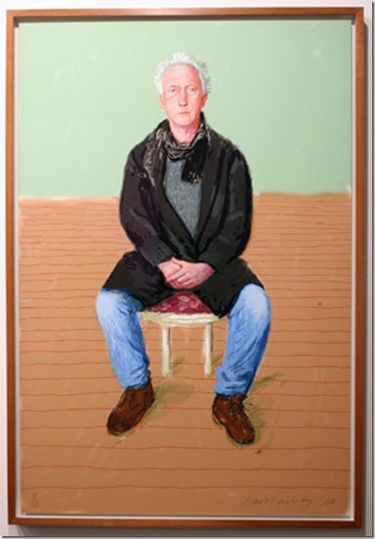 A Bigger Maurice Payne (2008), by David Hockney. (Photo by Katie Deits)