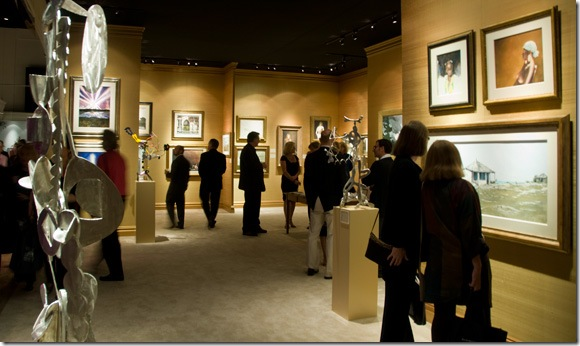 The Adelson Galleries booth at the American International Fine Art Fair. (Photo by Katie Deits)
