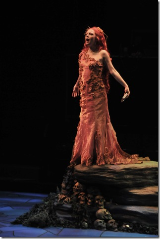 Lindsey Wochley in Sirens. (Photo by Harlan Taylor)