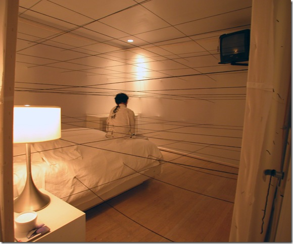 An installation by Christian Diaz, at the 2005 Showtel. (Photo by Katie Deits)