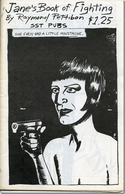 Jane's Book of Fighting (1985), by Raymond Pettibon.