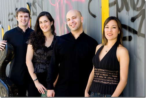 The Enso Quartet: Richard Belcher, Melissa Reardon, John Marcus and Maureen Nelson.