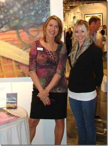 Cynthia Garder and Stacey Elliott of Palm Beach's Liman Gallery. (Photo by Jenifer M. Vogt)