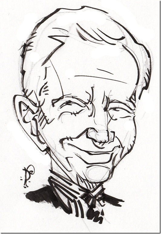 Daniel Ellsberg. (Illustration by Pat Crowley)