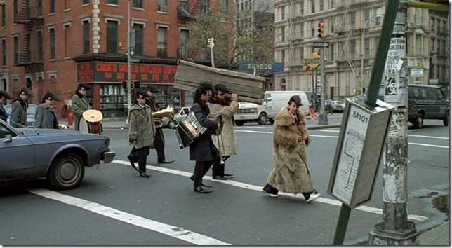A scene from Leningrad Cowboys Go America (1989).