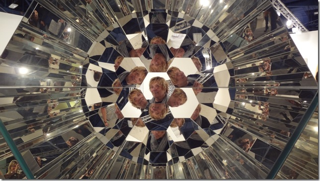 Your Plural View, a sculpture by Danish artist Olafur Eliasson, is constructed with mirrors, stainless steel and aluminum, and is interactive. (Photo by Susan Bardin)