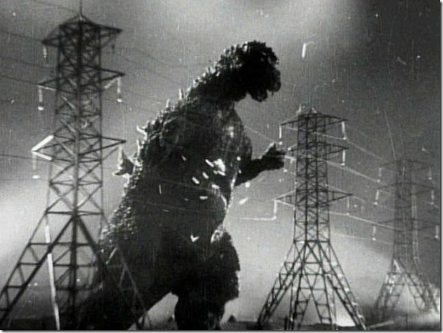 A scene from Godzilla (1954).