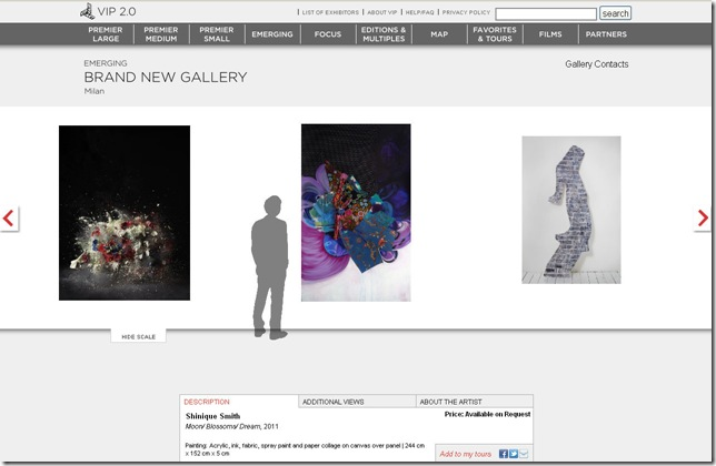 Visitors could browse the art via avatar and group the pictures they liked in a folder called My Collection.