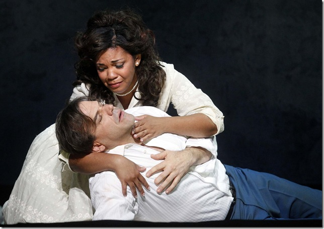 Richard Troxell and Janai Brugger-Orman in the second cast of Palm Beach Opera's Romeo et Juliette.