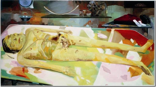 The Autopsy of Michael Jackson (2005), by Dana Schutz.