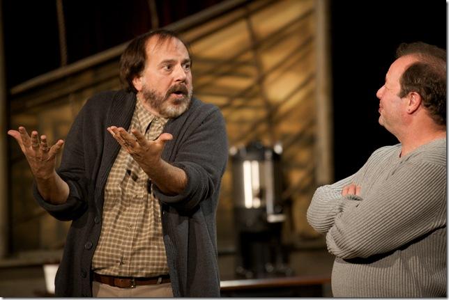 "Michael Gioia and Avi Hoffman in ""Brooklyn Boy."""