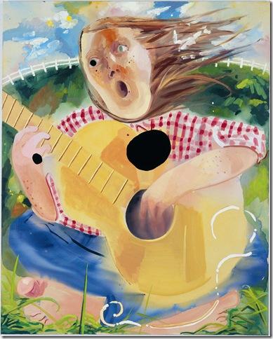 Guitar Girl (2009), by Dana Schutz.