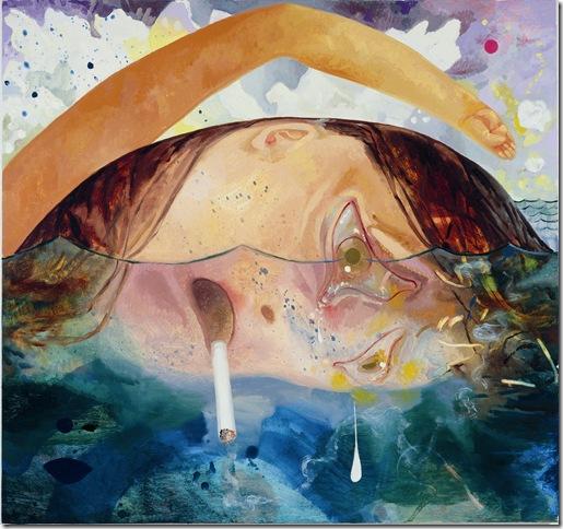 Swimming, Smoking, Crying (2009), by Dana Schutz.