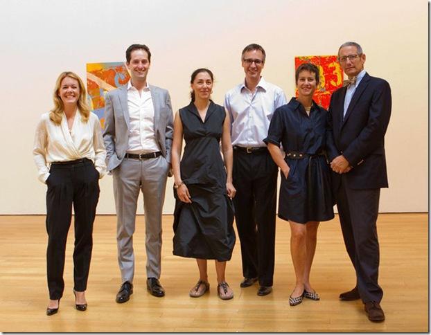 From left: VIP Art Fair directors Stephanie Schuman and Noah Horowitz, and founders Alessandra Almgren, Jonas Almgren, Jane Cohan and James Cohan.