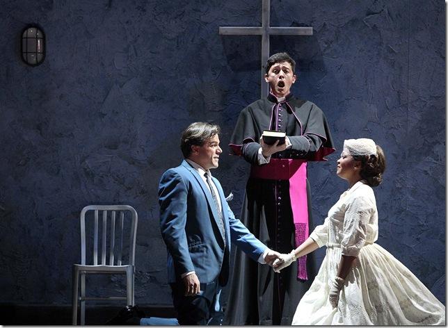 Richard Troxell, Alexander Vinogradov and Janai Brugger-Orman in the second cast of Palm Beach Opera's Romeo et Juliette.