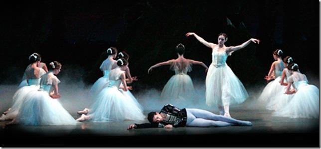 Carlos Guerra, Jennifer Kronenberg and Miami City Ballet dancers in Giselle. (Photo by Joe Gato)