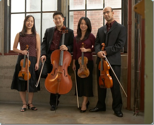 The Afiara String Quartet, from left: Yuri Cho, Adrian Fung, Valerie Li and David Samuel.
