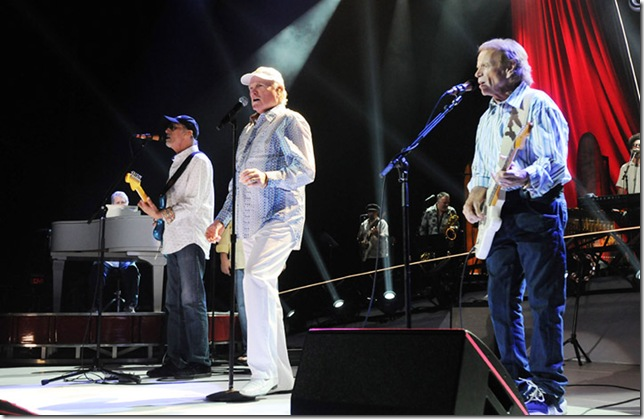 Brian Wilson, David Marks, Mike Love and Al Jardine of The Beach Boys, at the Hard Rock Live in Hollywood on May 4. (Photo by Tom Craig)