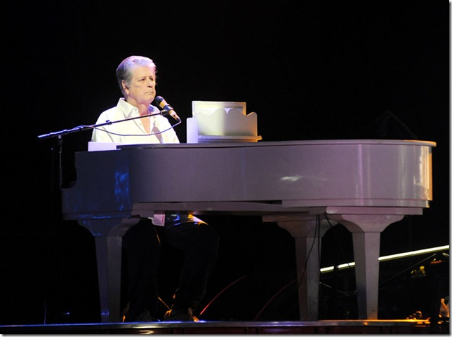 Brian Wilson at the piano. (Photo by Tom Craig)