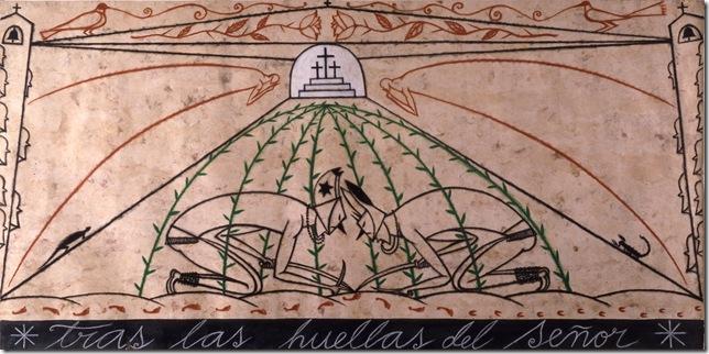 Tras las Huellas del Señor (Following the Footprints of the Lord; 2000), by José Bedia.