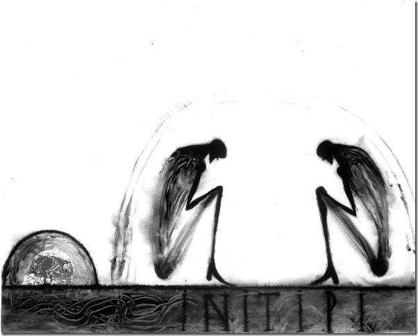 Initipi (Sweat Lodge; 1995), by José Bedia.