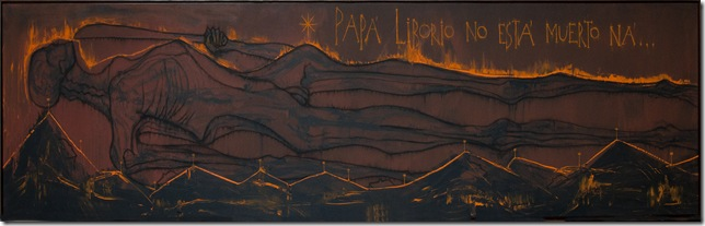 Papá Liborio No Esta Muerto Ná (Papa Liborio Is Not Dead, No; 2008), by José Bedia.