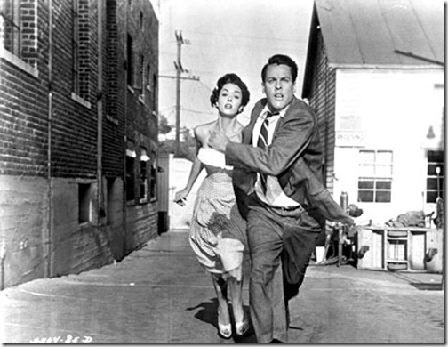 Dana Wynter and Kevin McCarthy in Invasion of the Body Snatchers (1956).