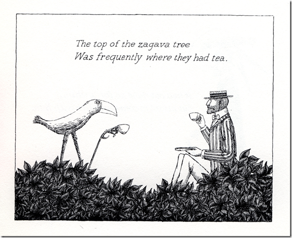 The Top of the Zagava Tree, from The Osbick Bird (1970), by Edward Gorey.
