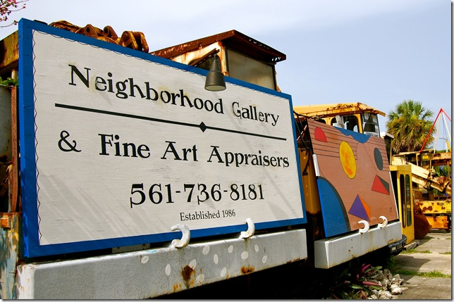 The sign for Neighborhood Gallery. (Photo by Chloe Elder)