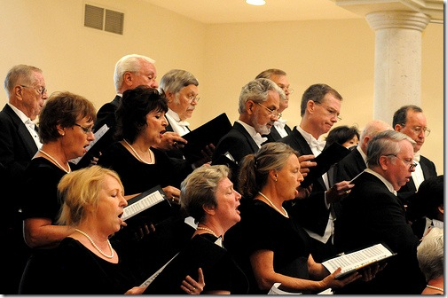 Members of the Masterworks Chorus of the Palm Beaches.