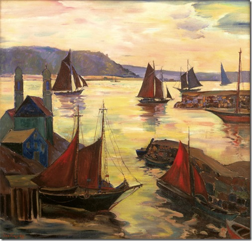 Red Sails in the Sunset (undated), by Fern Coppedge.