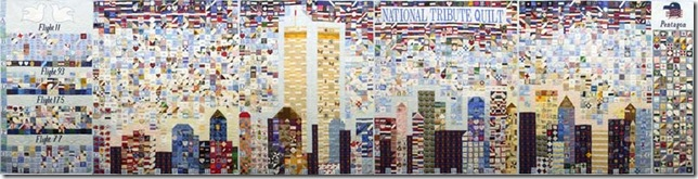 National Tribute Quilt (2002), by the Steel Quilters (Kathy Crawford, Amber Dalley, Jian Li and Dorothy Simback) and others.