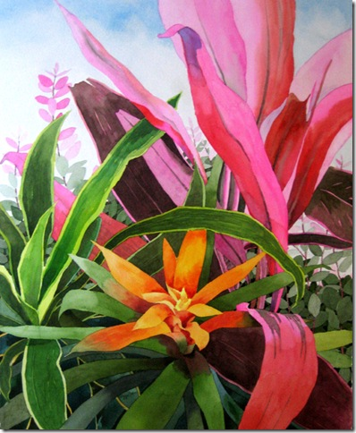 Bromeliad, by Ted Matz, at the Lighthouse ArtCenter.