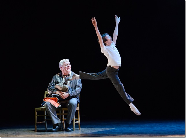 Rich Hebert and Kyland Hetherington in Billy Elliot