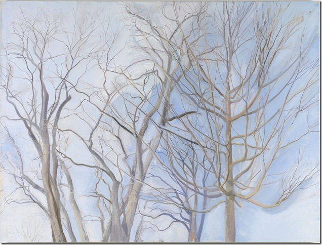 The Locust Trees With Maple (1990), by Sylvia Plimack Mangold.