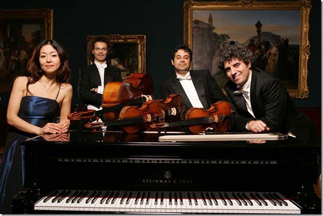 Quartetto Bernini, from left: Yoko Ichihara, Gianluca Saggini, Marco Serino and Valeriano Taddeo.