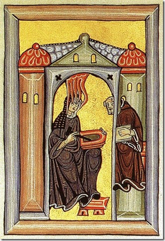 Hildegard of Bingen (1098-1179) receives a vision.