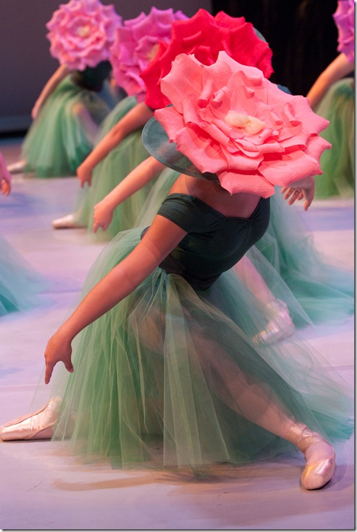 Flower Garden dancers in Ballet Palm Beach's Wonderland.