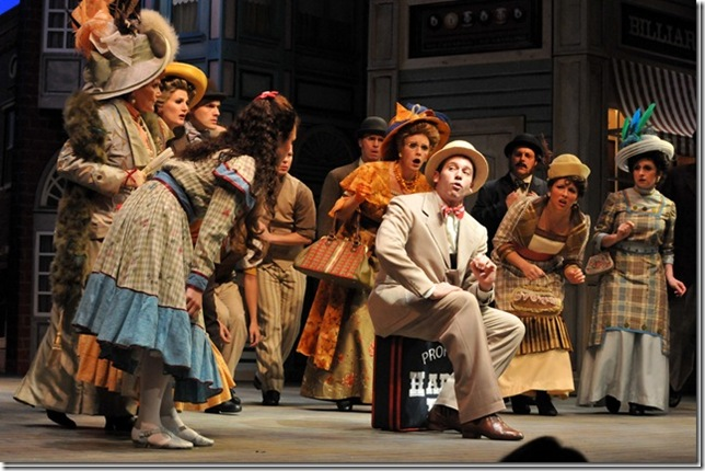 Matt Loehr and company in The Music Man. (Photo by Alicia Donelan)