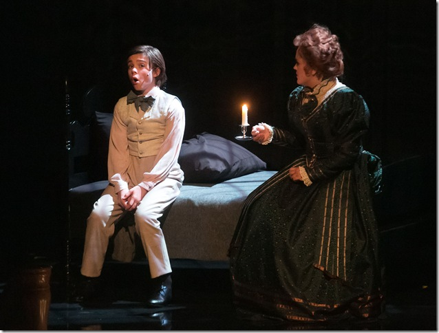Sidney O'Gorman and Bonnie Sherman Brown in The Turn of the Screw.