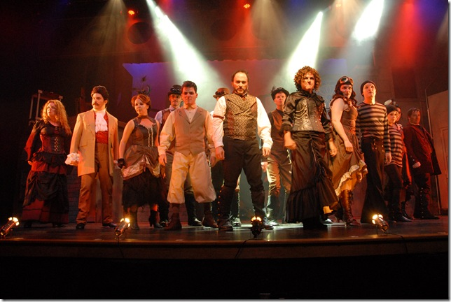 The cast of Sweeney Todd, at Slow Burn Theatre Company.