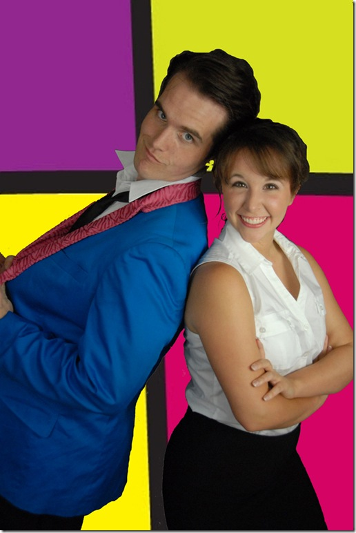 Clay Cartland and Courtney Poston in The Wedding Singer. (Photo by Gemma Bramham)