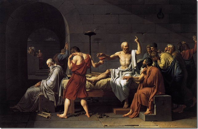 The Death of Socrates (1787), by Jacques-Louis David.