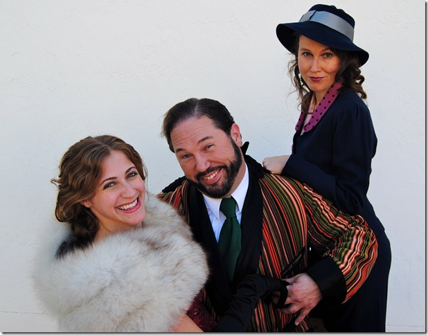 From left: Lisa Rosen, Scott Wells and Elizabeth Price in The Man Who Came to Dinner. (Photo by Shannon Ouellette)
