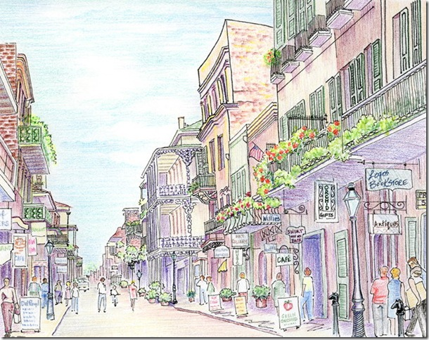 Old French Quarter, New Orleans by Sandee Berman. (Image courtesy of Coral Springs Museum of Art)