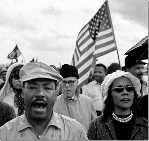 Martin Luther King and Coretta Scott King, Selma to Montgomery March (1965), by Bob Adelman. (Image courtesy of Museum of Art Fort Lauderdale)